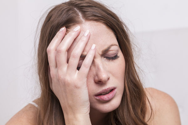 woman confused and drowsy