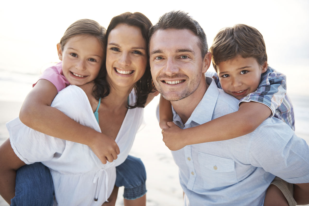 client and his family acheiving happiness through family program