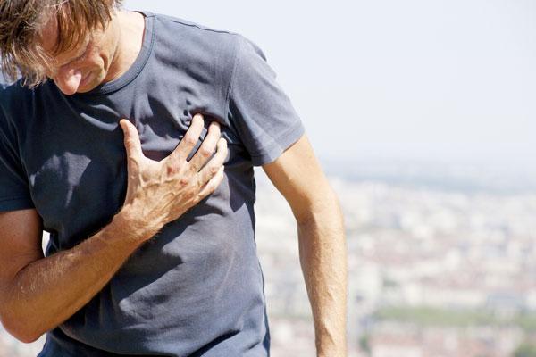 man having withdrawal symptoms